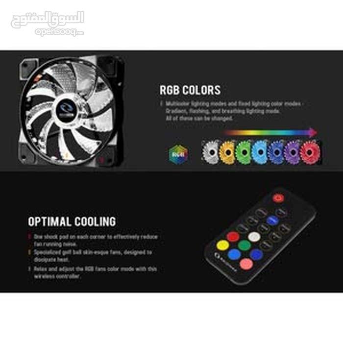 raidmax مجموعة مراوح بالريموت RGB
