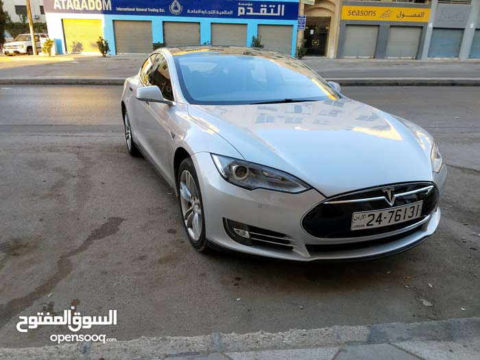 Silver Tesla S 2014 for sale