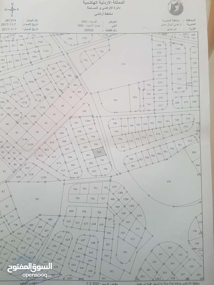 قطعة ارض سكن ج على شارع الأردن للبيع