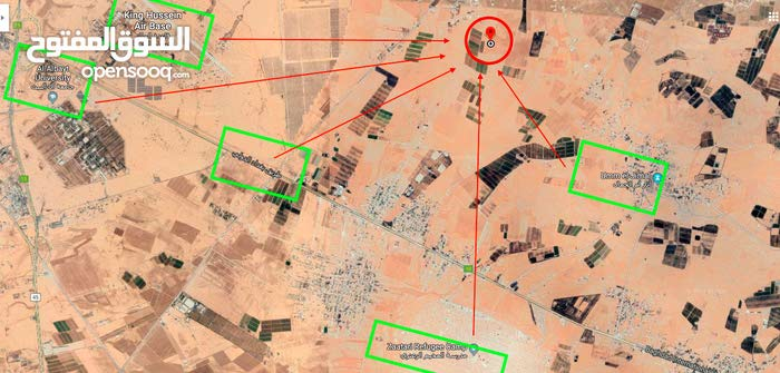 أرض مميزة للبيع في الباعج المفرق 23 دونم زراعية و صناعية