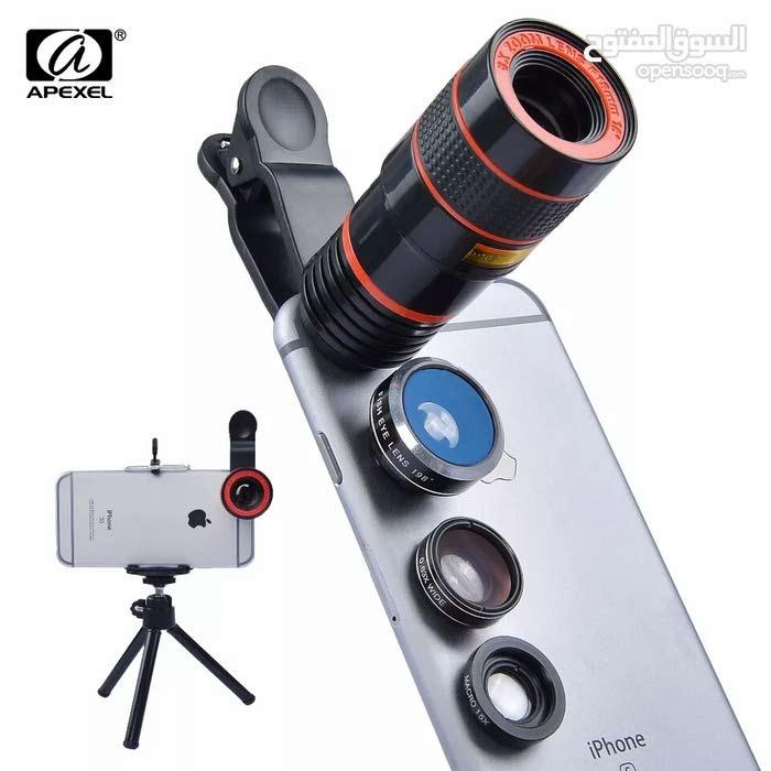 بكج عدسات تصوير مميز لجميع انواع الموبايلات مع ترايبود
