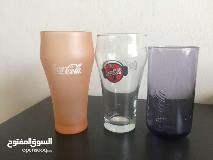 للبيع كاسات مويه قديمه بالتسعينات شركة كوكا كولا