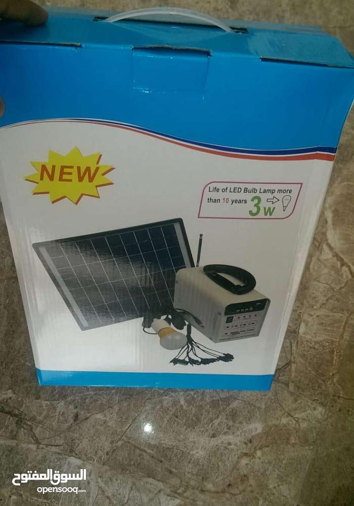 مولد يعمل بالطاقة الشمسية يشغل 4 ليتات ويشحن الجوال بالإضافة الى جهاز راديو