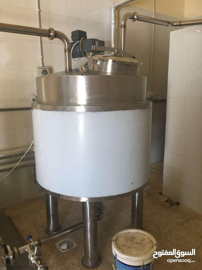 خزانات دبل جاكيت بخار (كويل )  سعة 500 لتر جديد للبيع Double tank steam jacket(coil) s