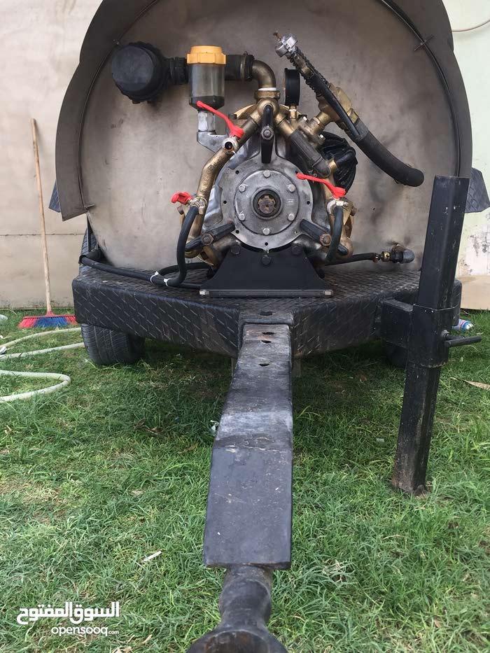 خزان رش ستيلس 1000لتر نوع برال محرك 3بصطوني  مع انبوب 70متر