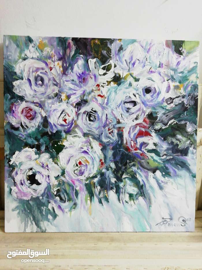 لوحة طفولة زهور