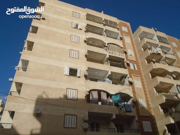 شقة 110م ناصية واجهه بحري بجوار الشارع الرئيسي مسجلة في النخيل
