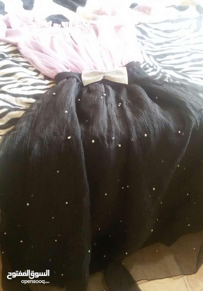 فستان سهرة مرصغ  باللولو  وكرستال  أنيق ف لبس