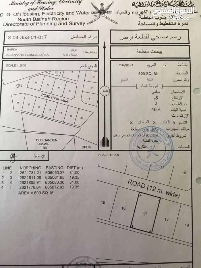 للبيع سكنية ابو النخيل 4 خلف حديقة النسيم