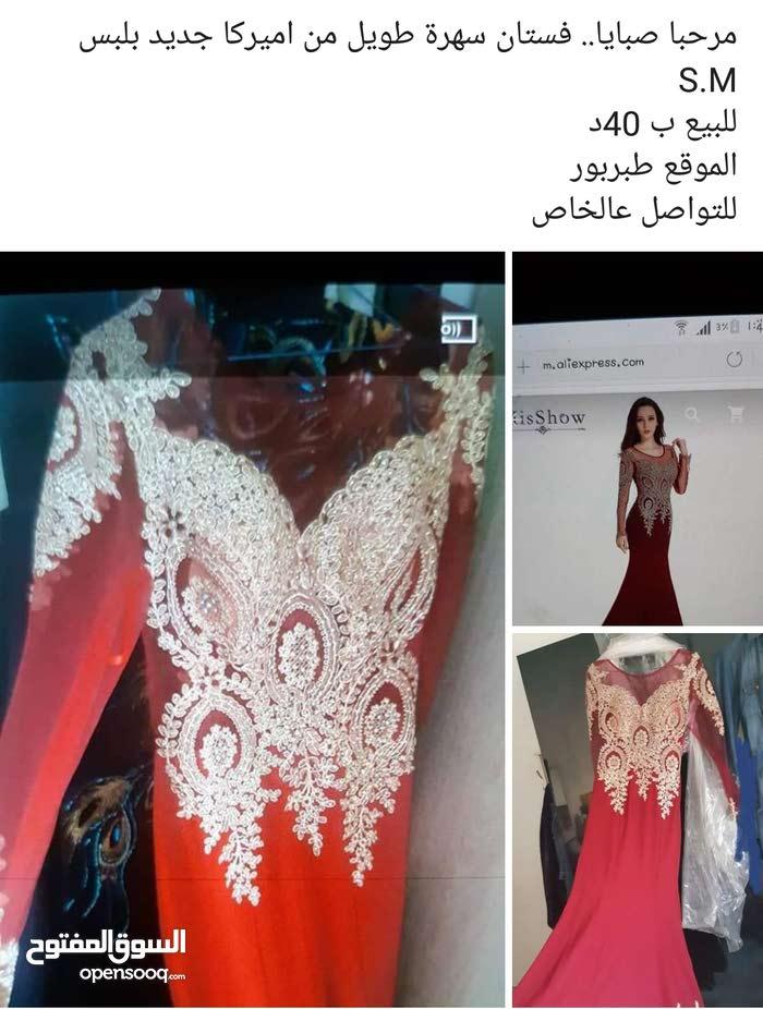 فستان سهرة طويل جديد من اميركا سايز s..m  بجنن عاللبس
