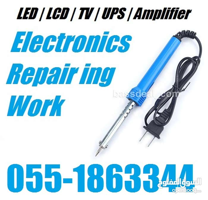 LCD TV , UPS , Amplifier Sound System Repairing Service Works in Dubai