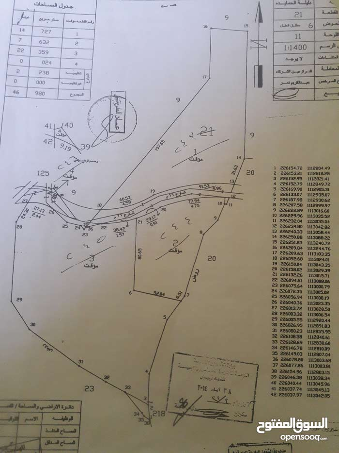 """ارض زراعية للبيع في منطقة لب مادبا """"دليلة الحمايدة"""" من المالك مباشرة"""