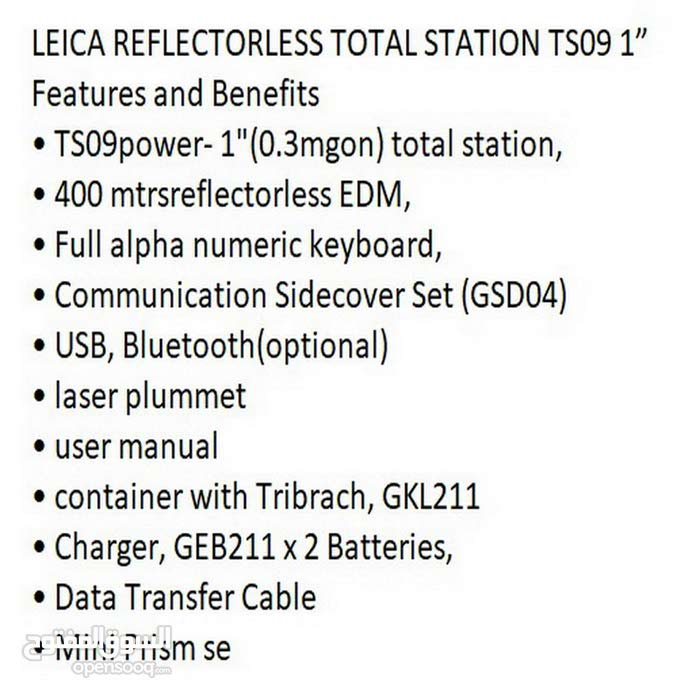 """Leica Reflectorless Total Station TS09 1"""""""