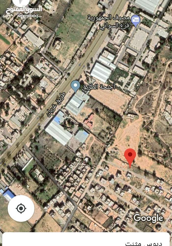 قطعة أرض للبيع قبل سيمافرو الامداد على اليسار  حسب الخريطة