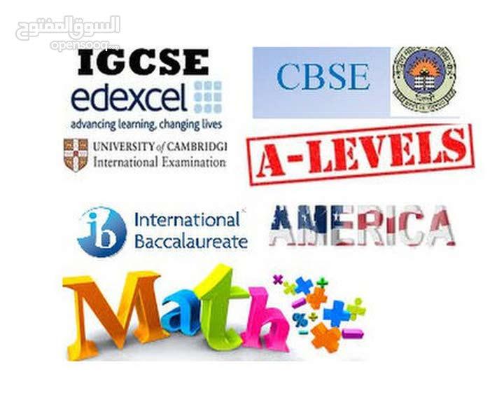 Math- IGCSE, AS, A, IB, American, Indian, Pakistani, European Board
