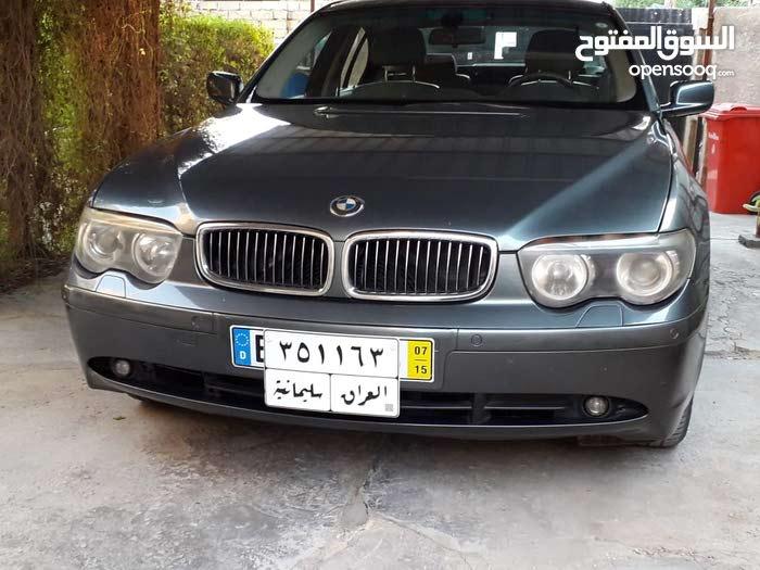 Grey BMW 735 2002 for sale