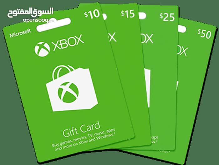 كروت اكس بوكس Xbox واشتراك live gold جميع الفئات ولجميع المتاجر