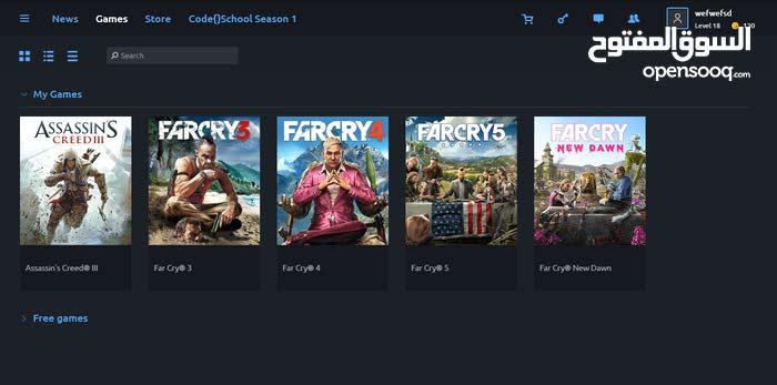 حساب Uplay للبيع (Far Cry 5 4 3 - Far Cry New Down