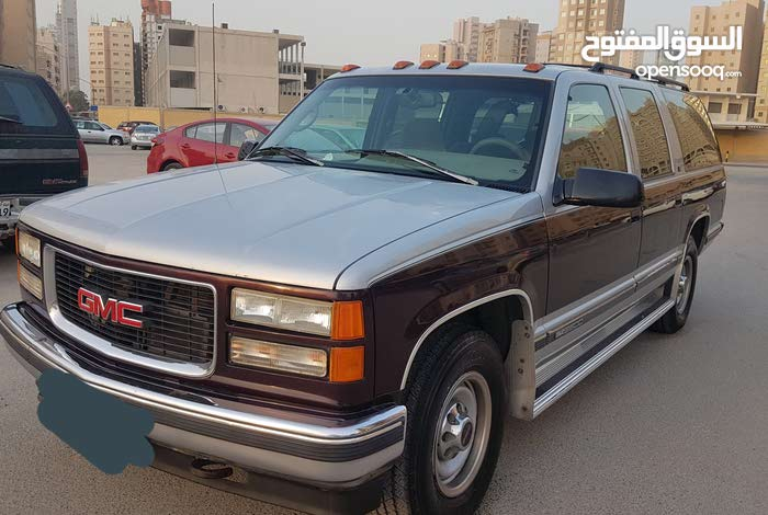 Maroon GMC Suburban 1996 for sale