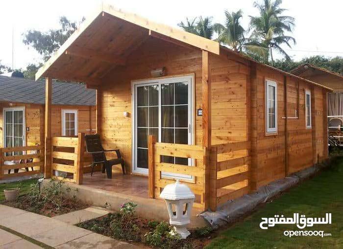 بيوت خشب حسب المساحه والطلاب هاتف 76109152