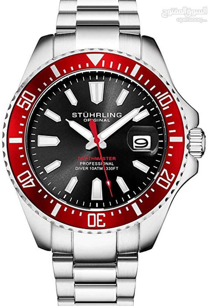 8eeb0adab stuhrling original Mens dive watch ساعة سويسرية بمحرك ياباني أصلي فرصة ...!  - (104699420) | السوق المفتوح
