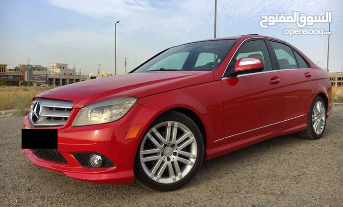 Red Mercedes Benz C 300 2009 for sale