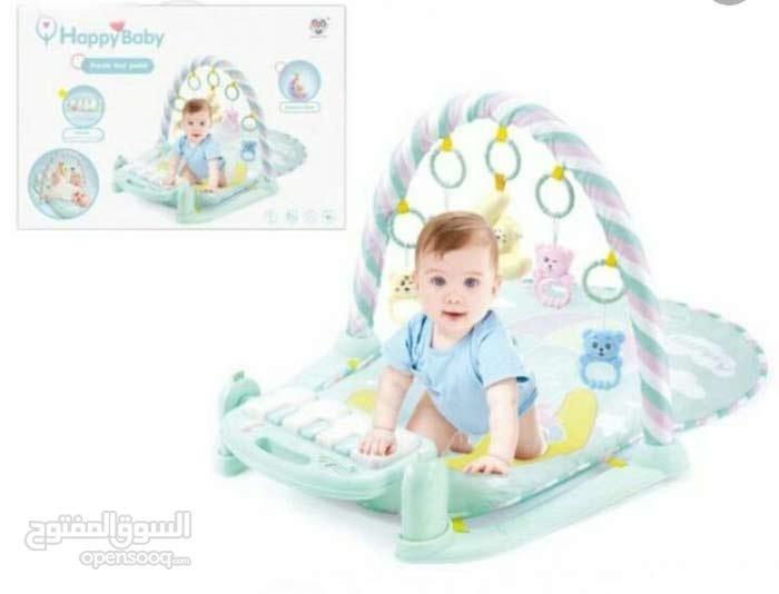 مفرش للعب الاطفال الرضع مع بيانو لتقوية الحاسة السمعية والبصرية