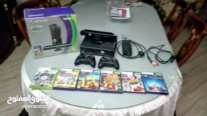 X box 360 250GB +kinect 2دراعان original 6 اسطوانات original Kinect sports 1 Kin