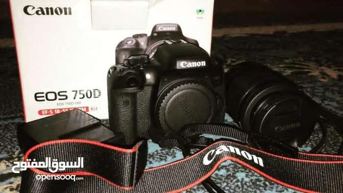 كاميرا كانون EOS 750D موديل حديد للناس لي تبي تتعلم الأحتراف  عدسة 18-55 ملم  دق