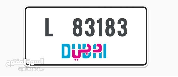 L 83183  DUBAI Plate