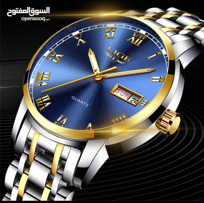 stainless steel luxury watch waterproof with 1 year international warranty