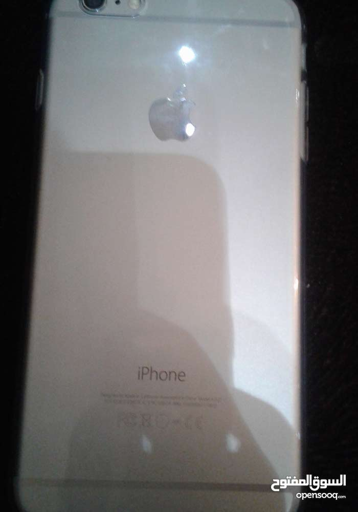 iPhone  6 plus 128g اللون رصاص الجهاز جديد