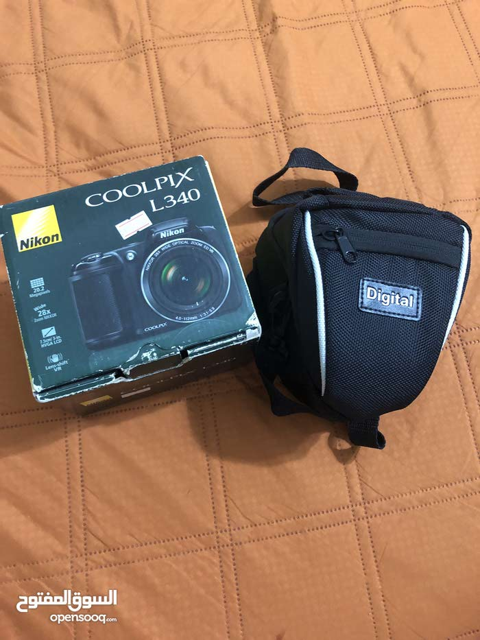 كاميرات نيكون L340 نضيفه ب كرتونها شبه جديد