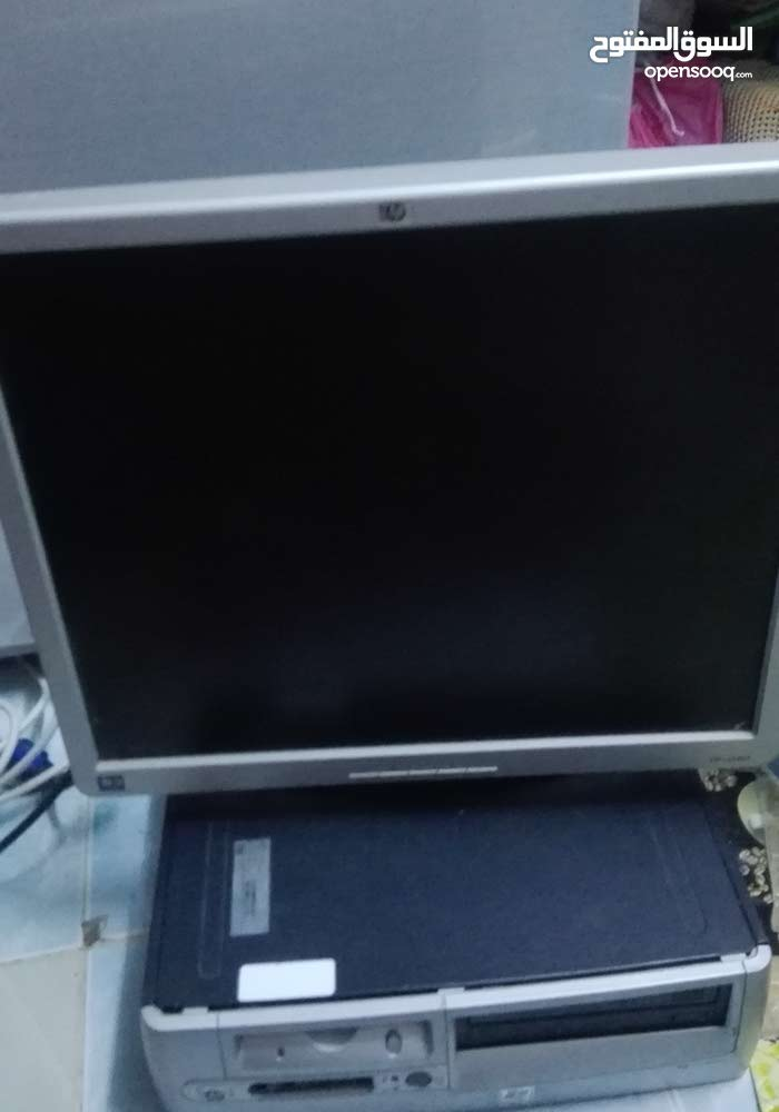 جهاز كمبيوترhp مع شاشه  مستعمل للبيع بحاله جيده