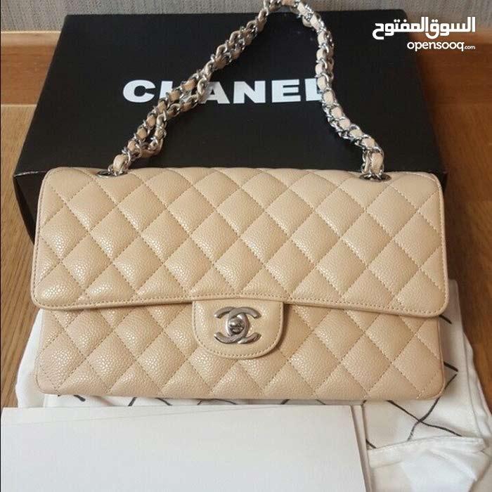 Chanel medium double flap bag caviar beige شنطة نسائية أصلية ماركة شانيل للبيع