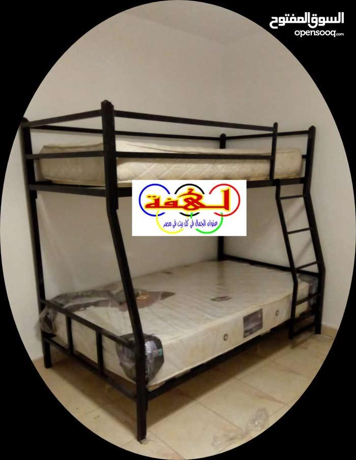 سرير حديد دورين والضمان مدي الحياة واللون الى يناسب عفش بيتك والعرض لفتره محدوده