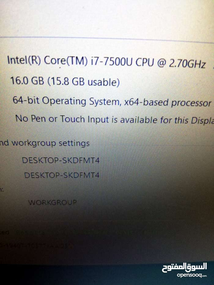لاب توب Dell بحاله ممتازه