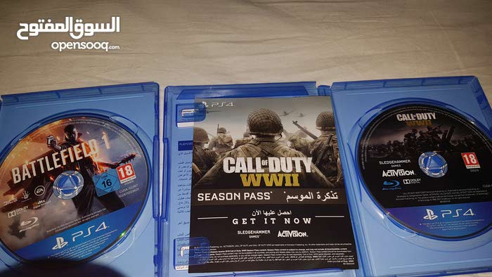 call of duty wwII and battlefield 1ps4