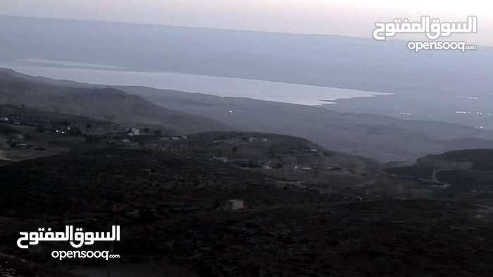 ارض ومزرعه 1000م للبيع طريق الاغوار منطقه المشرفه مطله على البحر الميت