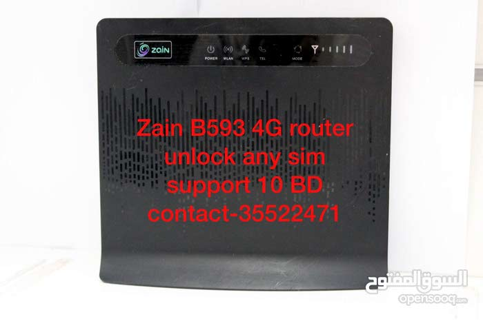 Zain b593 4G router  unlock any sim  support
