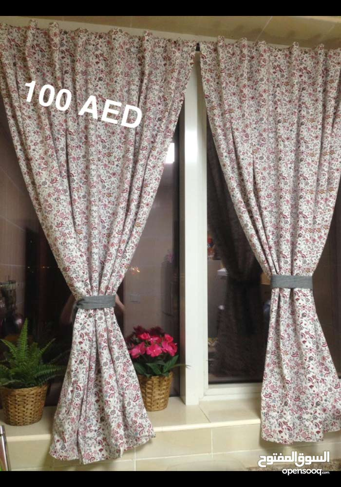 small flower curtains