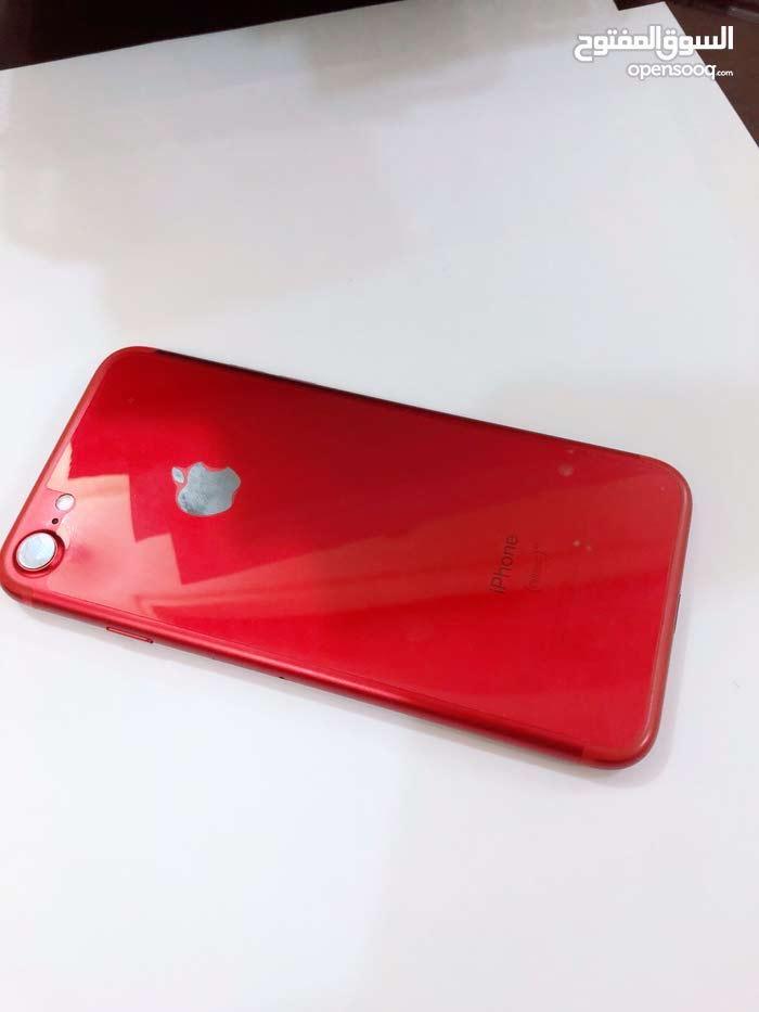 ايفون 7 احمر جديد 128 گيگا