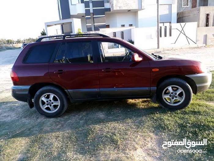 Maroon Hyundai Santa Fe 2004 for sale