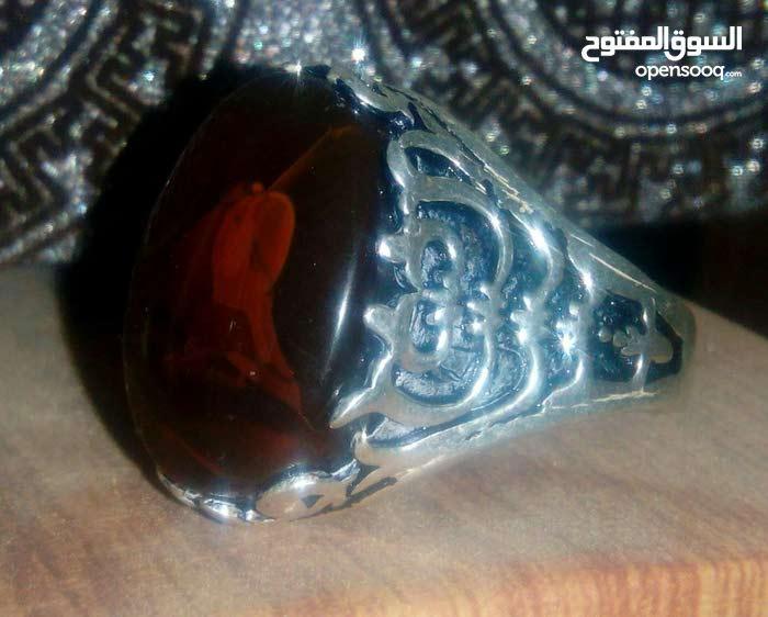 خاتم ذات  عقيق يماني