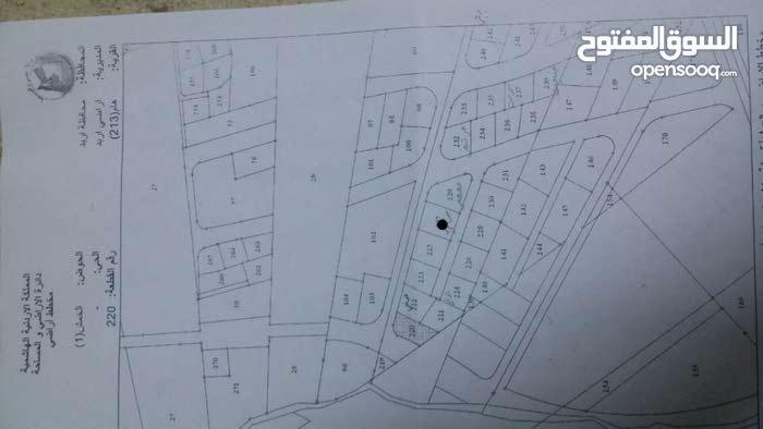 ارض في اربد في قرية هام قريبه من الطريق الدولي الجديد ( طريق 100 لجديد )