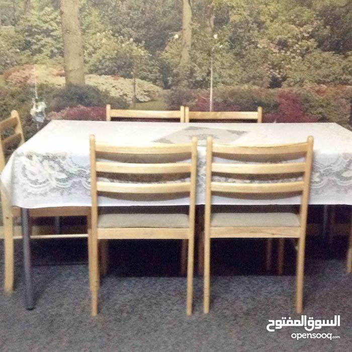 طاولة مع ٥ كراسي للبيع - (37199103)