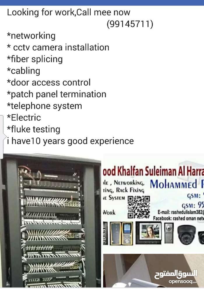 need camera cctv,networking,telephone system,job
