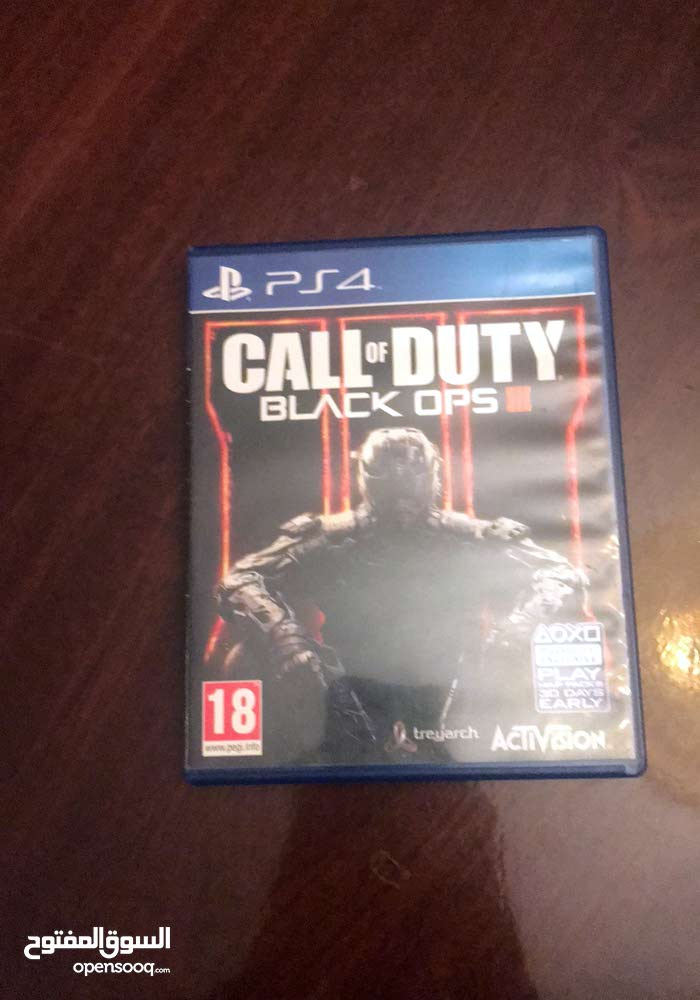 لعبة call of duty black ops3 إنجليزي بلايستاتيون 4 للبيع، للبيع فقط