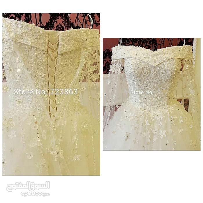 فستان زفاف للبيع او الايجار