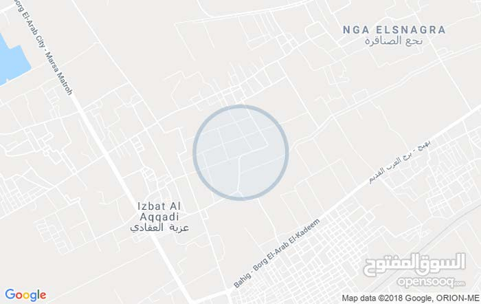 قطعه ارض سكنيه في الحي السكني الثالث في مدينه برج العرب الجديده